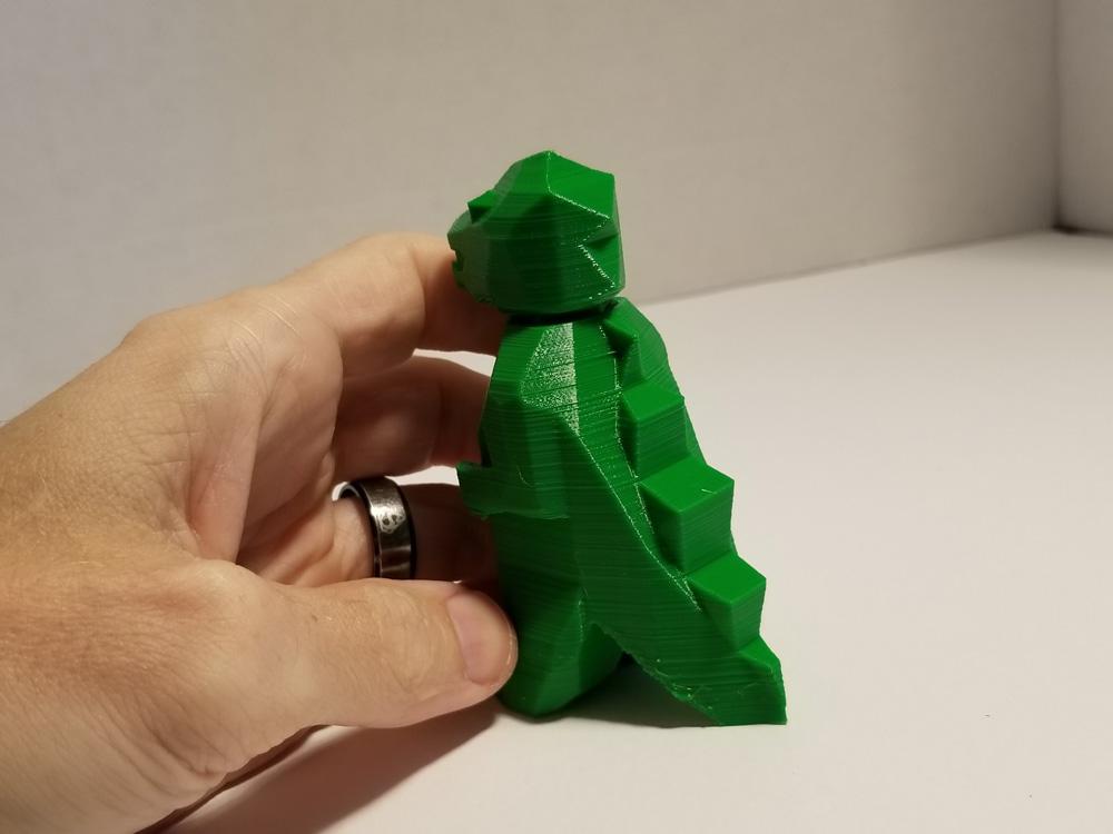 Tevo Michelangelo 3D Printer -- TPU filament -- green Godzilla