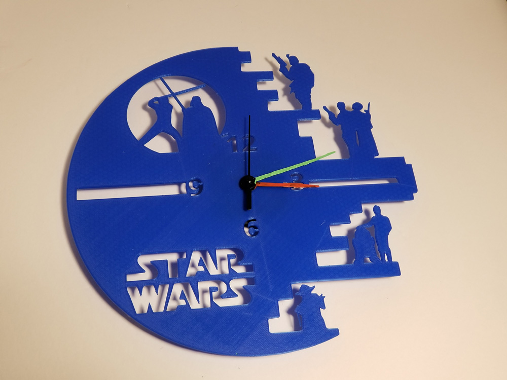 3D printout: Nerdy Star Wars clock.