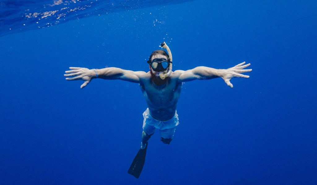 picture of man underwater