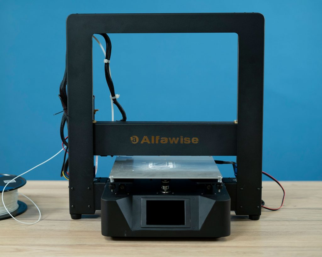 Front view of 3D printer