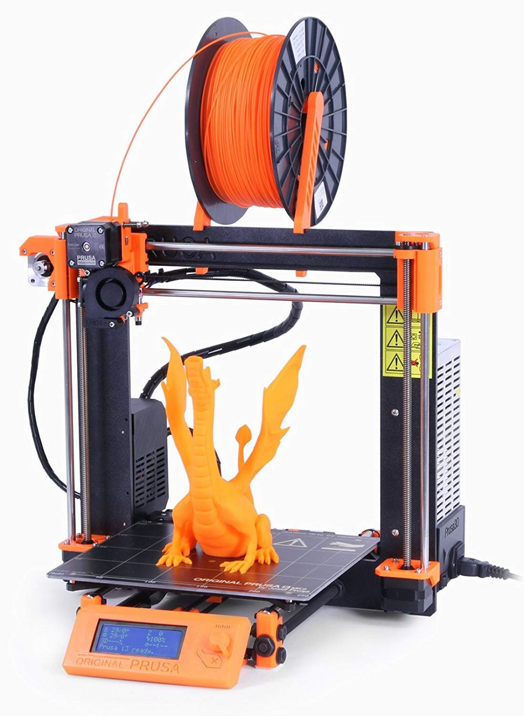 3d printer with printed dragon