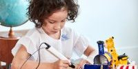 little girl using the best 3d pens